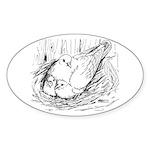 Nesting Pigeon Sticker (Oval 50 pk)