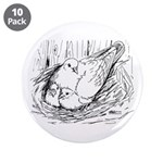 """Nesting Pigeon 3.5"""" Button (10 pack)"""