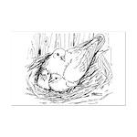 Nesting Pigeon Mini Poster Print