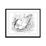 Nesting Pigeon Framed Panel Print