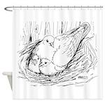 Nesting Pigeon Shower Curtain