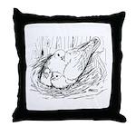 Nesting Pigeon Throw Pillow