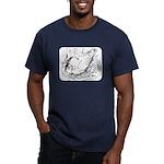 Nesting Pigeon Men's Fitted T-Shirt (dark)