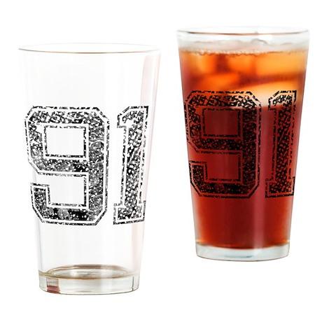 91, Vintage Drinking Glass