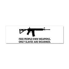 Free people own guns! Car Magnet 10 x 3