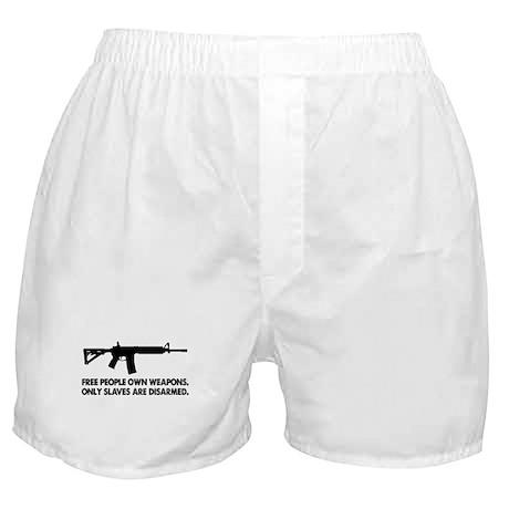Free people own guns! Boxer Shorts