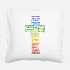 Names of Jesus Cross Square Canvas Pillow