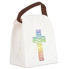 Names of Jesus Cross Canvas Lunch Bag