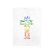 Names of Jesus Cross 5'x7'Area Rug