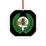 Midrealm Chiv Laurel black medallion