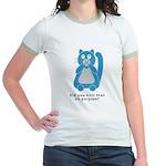 Mean Kitty Jr. Ringer T-Shirt