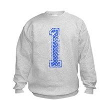 1, Blue, Vintage Sweatshirt