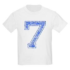 7, Blue, Vintage T-Shirt