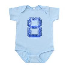 8, Blue, Vintage Infant Bodysuit