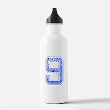 9, Blue, Vintage Water Bottle