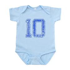 10, Blue, Vintage Infant Bodysuit