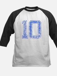 10, Blue, Vintage Kids Baseball Jersey