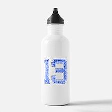 13, Blue, Vintage Water Bottle