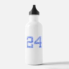 24, Blue, Vintage Water Bottle