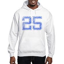 25, Blue, Vintage Hoodie