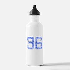 36, Blue, Vintage Water Bottle