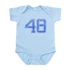 48, Blue, Vintage Onesie