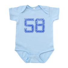 58, Blue, Vintage Infant Bodysuit
