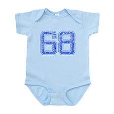 68, Blue, Vintage Infant Bodysuit