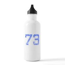 73, Blue, Vintage Water Bottle