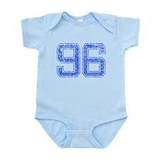 96, Blue, Vintage Infant Bodysuit
