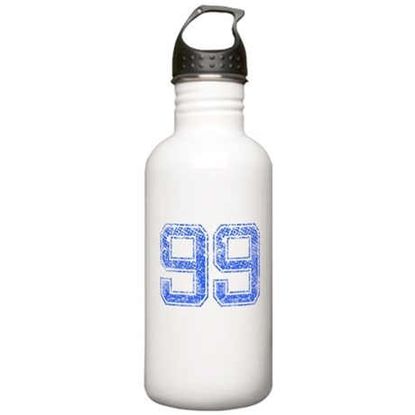 99, Blue, Vintage Stainless Water Bottle 1.0L