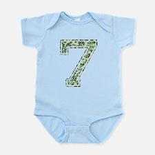 7, Vintage Camo Infant Bodysuit