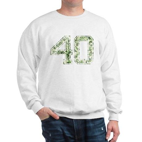 40, Vintage Camo Sweatshirt