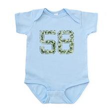 58, Vintage Camo Infant Bodysuit