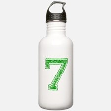 7, Green, Vintage Water Bottle
