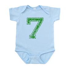 7, Green, Vintage Infant Bodysuit