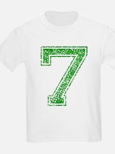 7, Green, Vintage T-Shirt