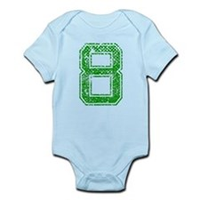 8, Green, Vintage Infant Bodysuit