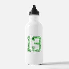 13, Green, Vintage Water Bottle