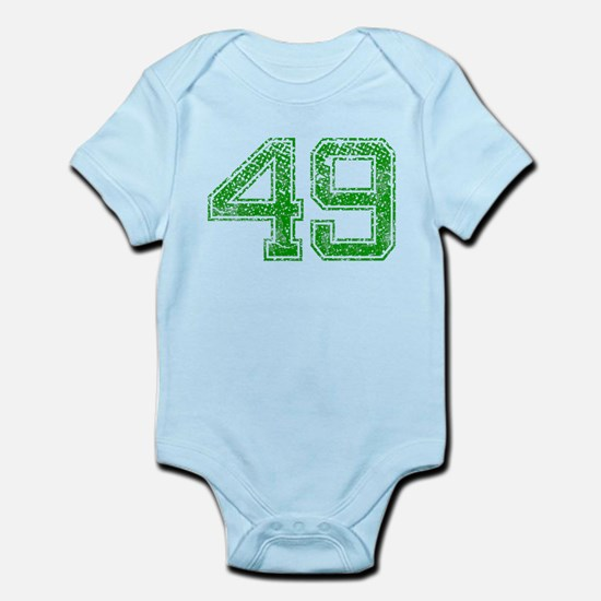 49, Green, Vintage Infant Bodysuit