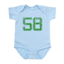 58, Green, Vintage Infant Bodysuit
