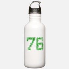 76, Green, Vintage Water Bottle
