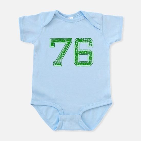 76, Green, Vintage Infant Bodysuit