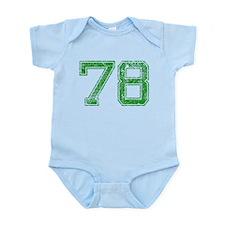 78, Green, Vintage Infant Bodysuit