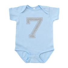 7, Grey, Vintage Infant Bodysuit