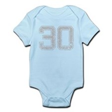 30, Grey, Vintage Infant Bodysuit
