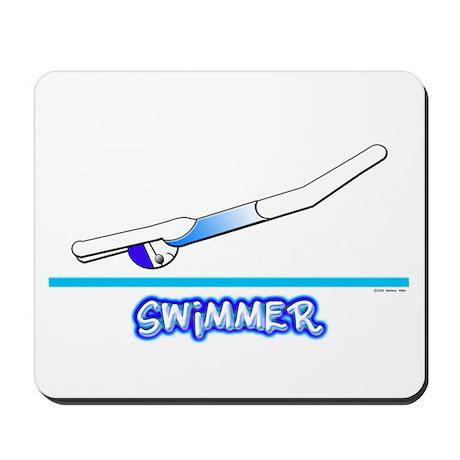 Swimmer (Girl) Blue Suit Mousepad