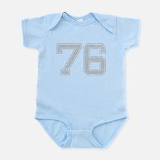 76, Grey, Vintage Infant Bodysuit