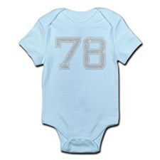 78, Grey, Vintage Infant Bodysuit