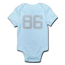 86, Grey, Vintage Infant Bodysuit